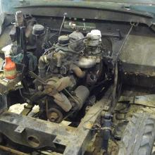The Land rover series two 2.25 engine was the early type
