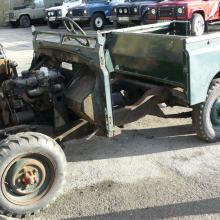 The land rover series 2 seen here being stripped down ready for restoration