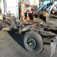 The land rover series 2 chassis was rusty all over as can be seen here in this pic