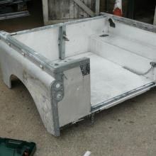 All the body panels were chemically dipped to remove any paint and corrosion land rover rear tub