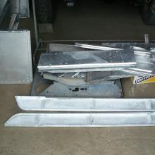land rover series 2 body panels after chemical dipping