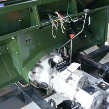A new wiring loom was fitted to the land rover