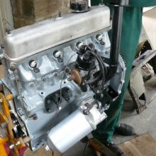 The land rover 2.25 engine was completely stripped down and fully reconditioned see here in the vehicle