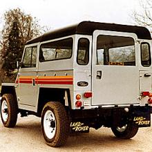 A silver lightweight land rover which Jake Wright's refurbished in the 1980,s