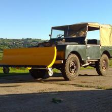 land rover series one  snowplough
