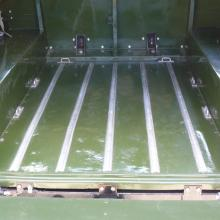 The rear floor of the land rover lightweight