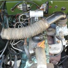 The land rover lightweight is showing here the top of the 2.25 petrol engine