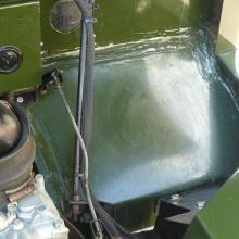 The top of the land rover lh lightweight footwell