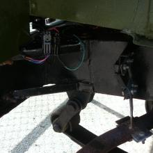 The rear of the land rover lightweight chassis is in good condition as is shown in this picture