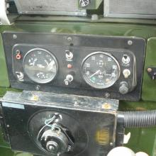 The dashboard of the lightweight land rover