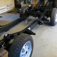 The range rover chassis is now on the refurbished axles