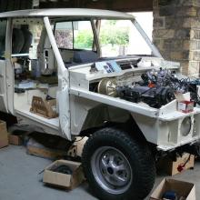 The range rover classic body is now completed and on the chassis.