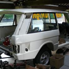 The range rover 2 door has now got a rear side panel fitted