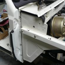 The range rover brake servo has now been overhauled and is now fitted to the bulkhead