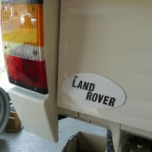 "The  ""by Land rover"" range rover 2 door badge has now been fitted as well as the new rear lamps"