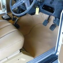 The range rover 2 door interior has now been completely refurbished