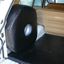 The range rover 2 door rear load space has had new mat fitted as well as new spare wheel cover