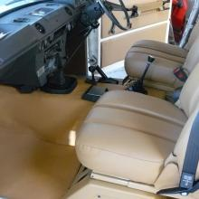 range rover 2 door interior has been fitted with new floor and tunnel mats