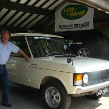 Geoff Mountain with his Range Rover AT JAKE WRIGHT's