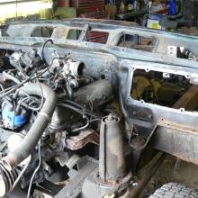 range rover classic engine with bulkhead for restoration