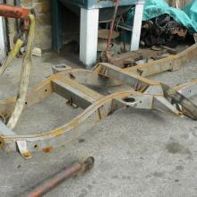 Classic range rover chassis now removed before blasting