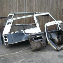 range rover classic body shell sections are removed before being taken for dipping