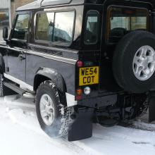 Here is a nice pic of the rear left hand side of the land rover defender 90