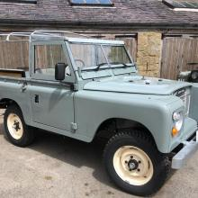 Land rover series 3 is standing outside Jake Wright's