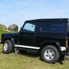 The side can be seen on the defender parked on ilkley moors