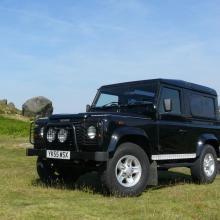 The land rover Defender is seen here on ilkley moors