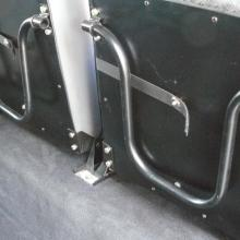 The underside of the side facing rear seats are in as new condition