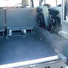 110 xs land rover rear seats