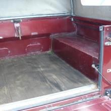 Inside shot of the rear of the land rover double cab pickup shows it to be in very nice condition