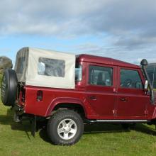 Land Rover double cab pickup on Ilkley moors
