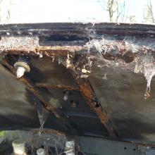 The land rover series 2a bonnet frame was completely rusted away and so was replaced
