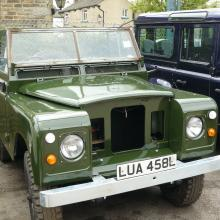 The land rover series 2 has now been repainted in land rover deep bronze green and is nearly finished