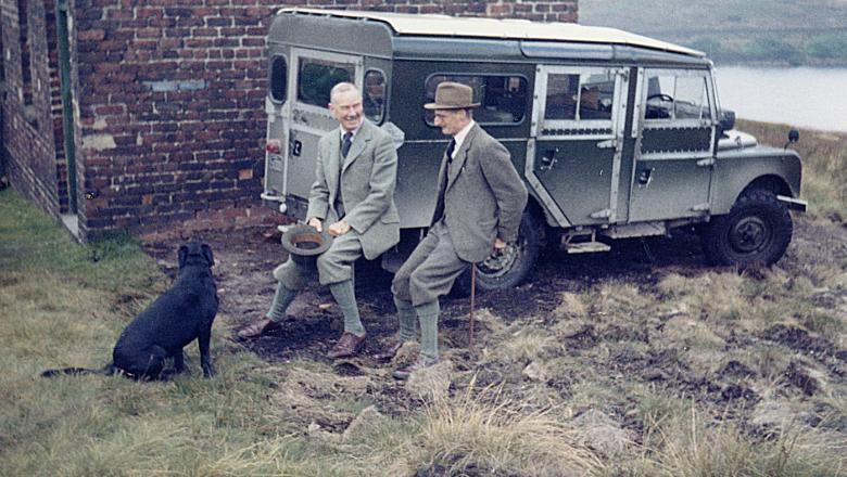 land rover with lord savile