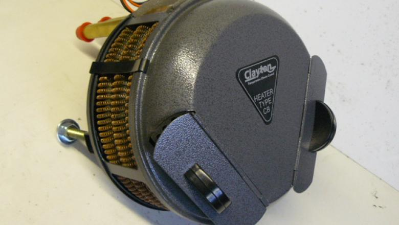 A Clayton heater can be fitted to most land rover's and other vehicles