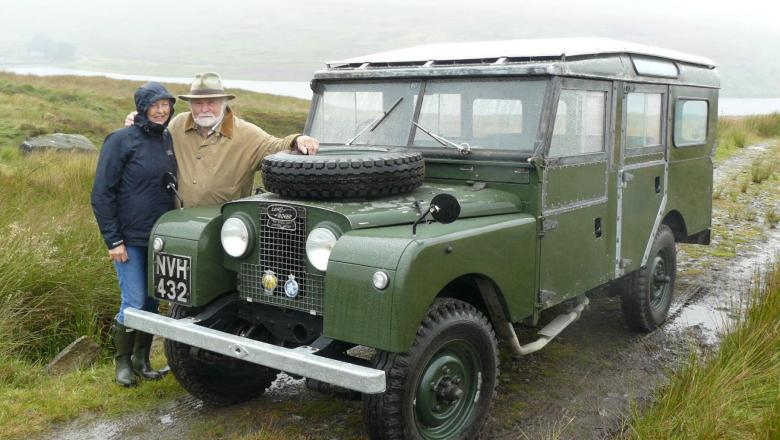 LAND ROVER SERIES 1 WITH LORD SAVILE AND LADY SAVILE RESTORATION BY JAKE WRIFGHT