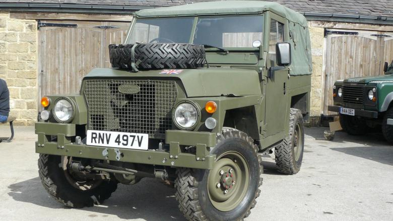 Land rover Series 3 Lightweight in Jake wright yard