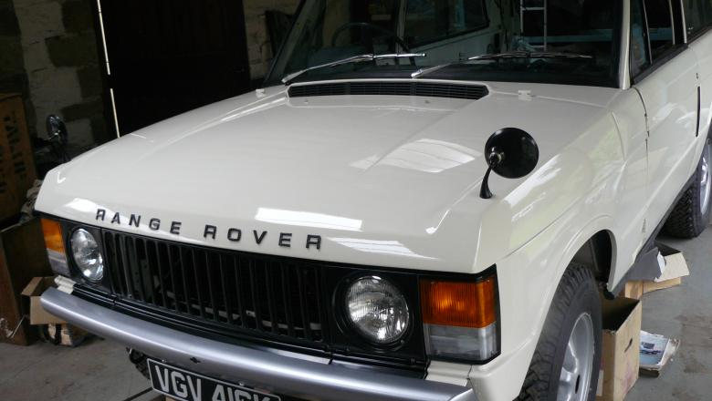 The finished Range Rover after 3 years restoration