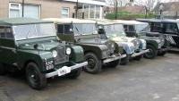 Land Rover entered production in 1948 with what has later been termed the series I. This was launched at the Amsterdam Motor Show. It was originally designed for farm and light industrial use,and here are 4 early models  at jake wright land rover's