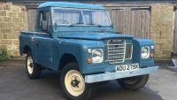 Land rover series 3 outside jake wright workshop