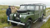 LAND ROVER SERIES 1 WITH LORD SAVILE AND LADY SAVILE