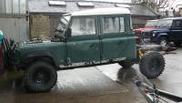 LAND ROVER 130 REFURB AT JAKE WRIGHT
