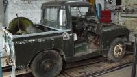 land rover series 2a in our workshop has just come from a farm after standing outside for 20 years and it is now ready to be refurbished.