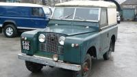 Land rover Series 2 after standing in a garage for 30 years now for restoration