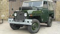 This is a very nice series 2 a lightweight land rover .The Airportable or lightweight was designed to be lifted by helicopters or put two abreast in transport aircraft .The lightweight was heavier than a standard land rover in road going form.